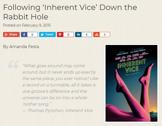 Inherent vice 1