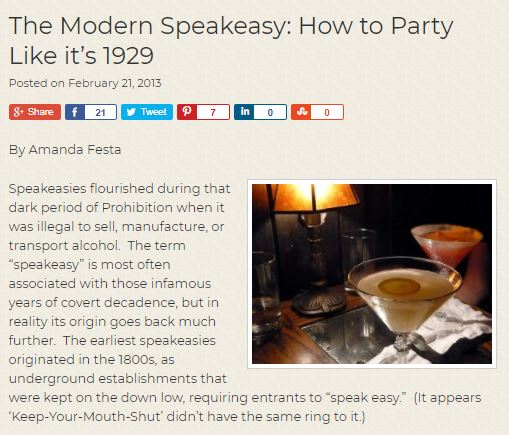 modern speakeasy